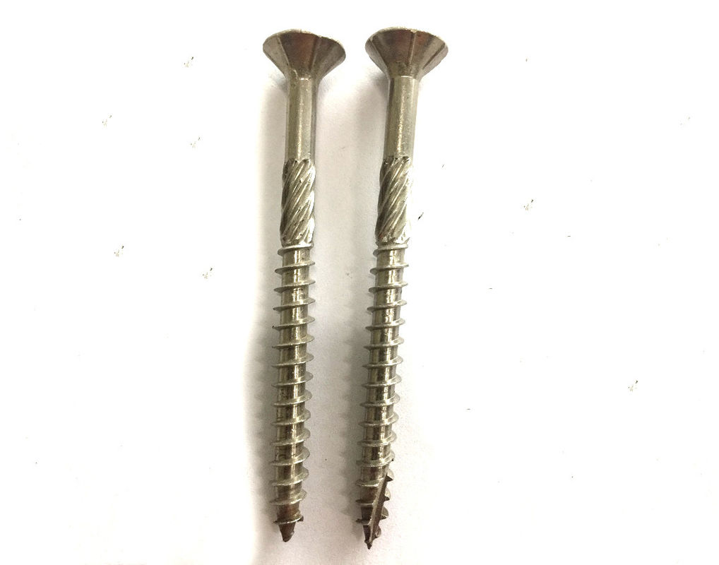 Double Thread 3 4 Inch Torx Drive Stainless Steel Deck Screws With Knurling Flat Head