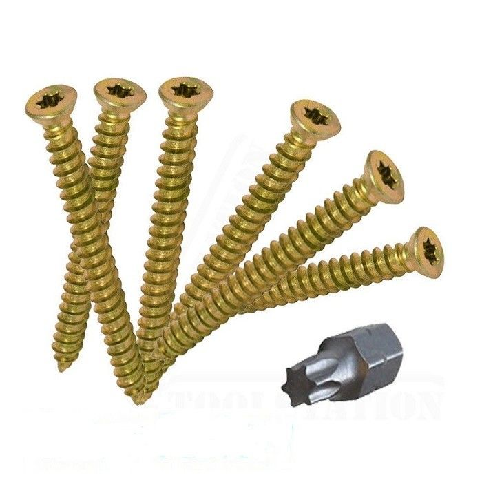 Low Profile Head  High Low Thread Window Concrete Fixing Screws In Anchor Bolts 50mm 60mm