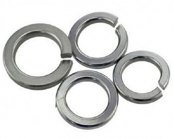 Stainless Steel Split Spring Lock Washers With Bend And Flat End Din7980 Din 127a Din127b