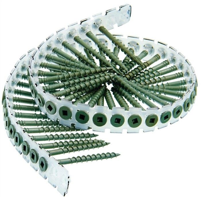 Collated Plastic Strip Bugle Head Drywall Screws To Wood Gray Phosphate #  6 X 1-1/4 ""