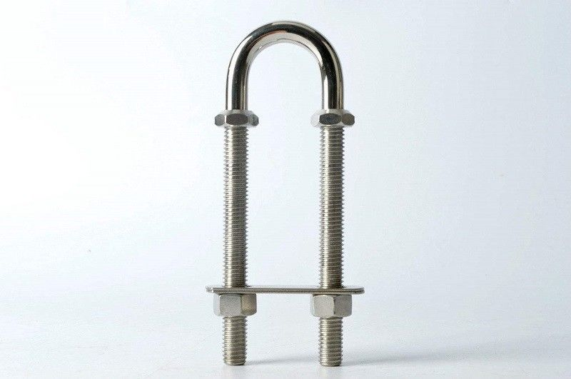 1/4-20 X 3/4 316 Stainless Steel U Bolts 3/4 Pipe With Nus And Washers